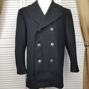 Vintage USN US Navy Kersey wool peacoat 42 Short